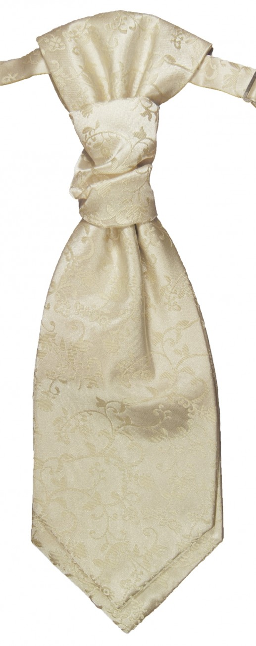 Champagne ascot tie for wedding v18
