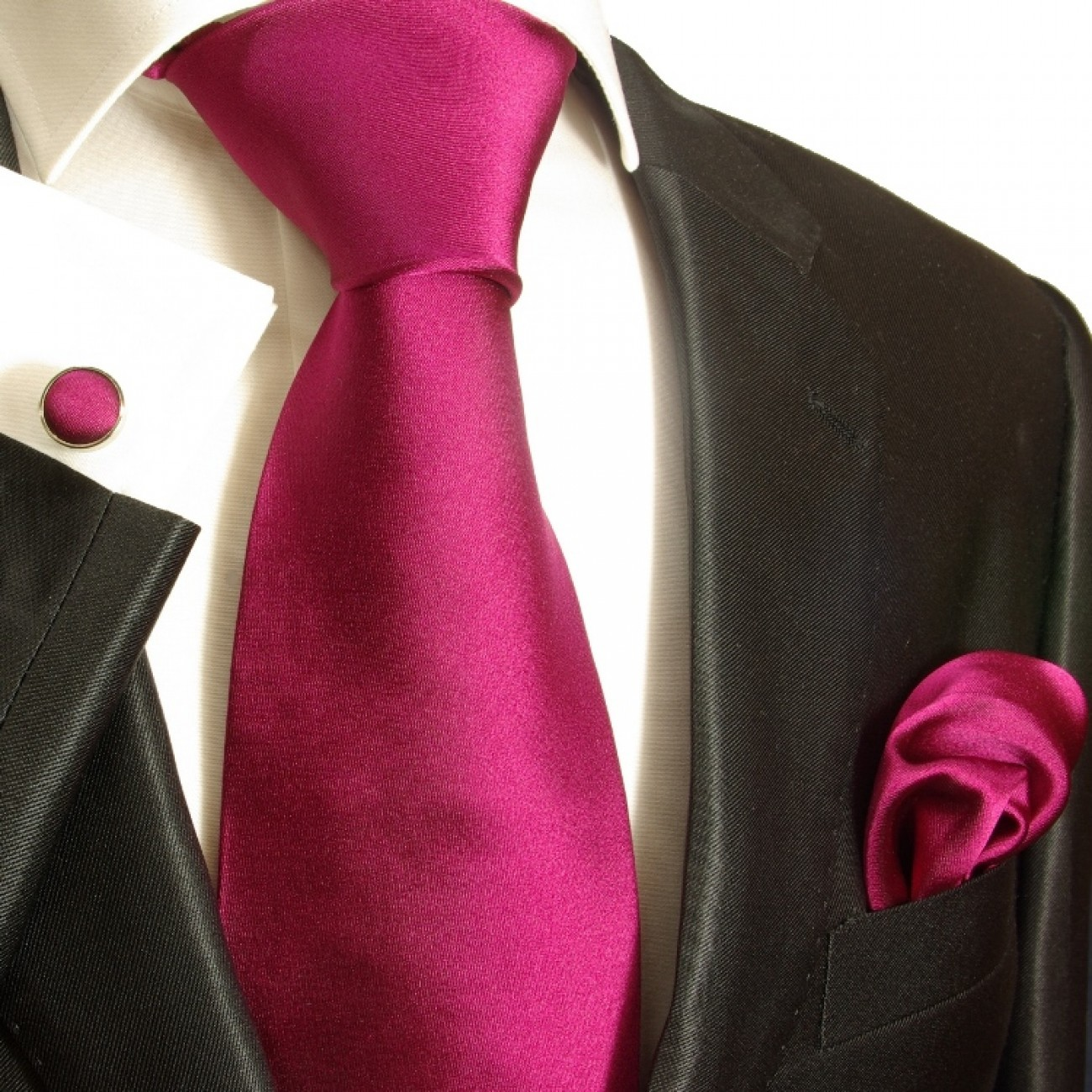 dark pink necktie set 3pcs