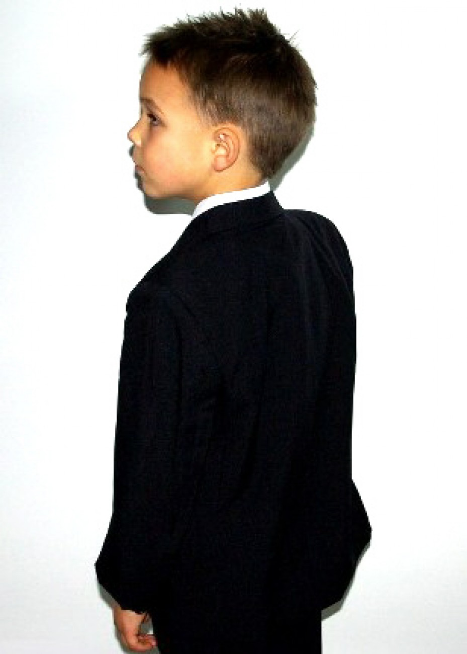 kids tuxedo suits with 5 pcs. black
