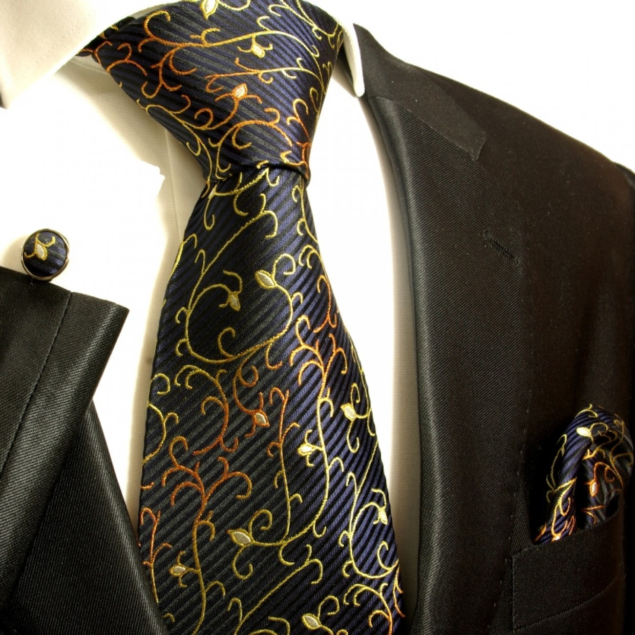 blue black necktie