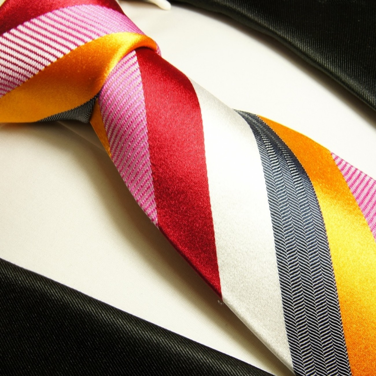 multi colour necktie set 3pcs