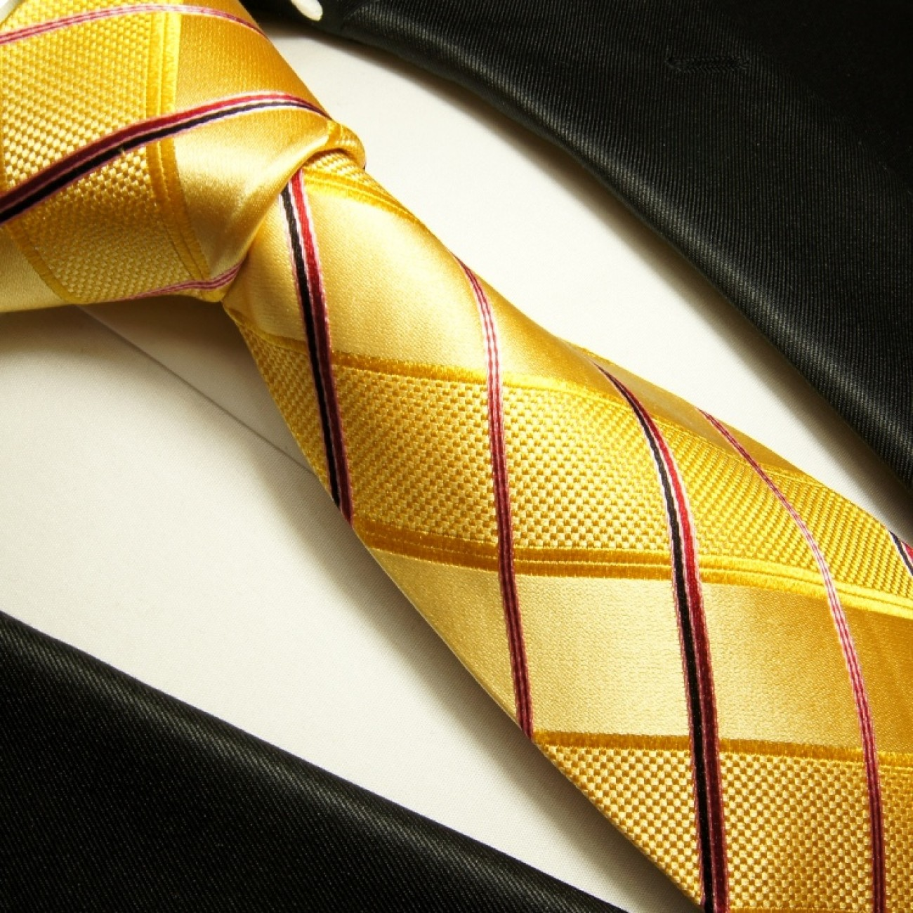 gold necktie set 3pcs