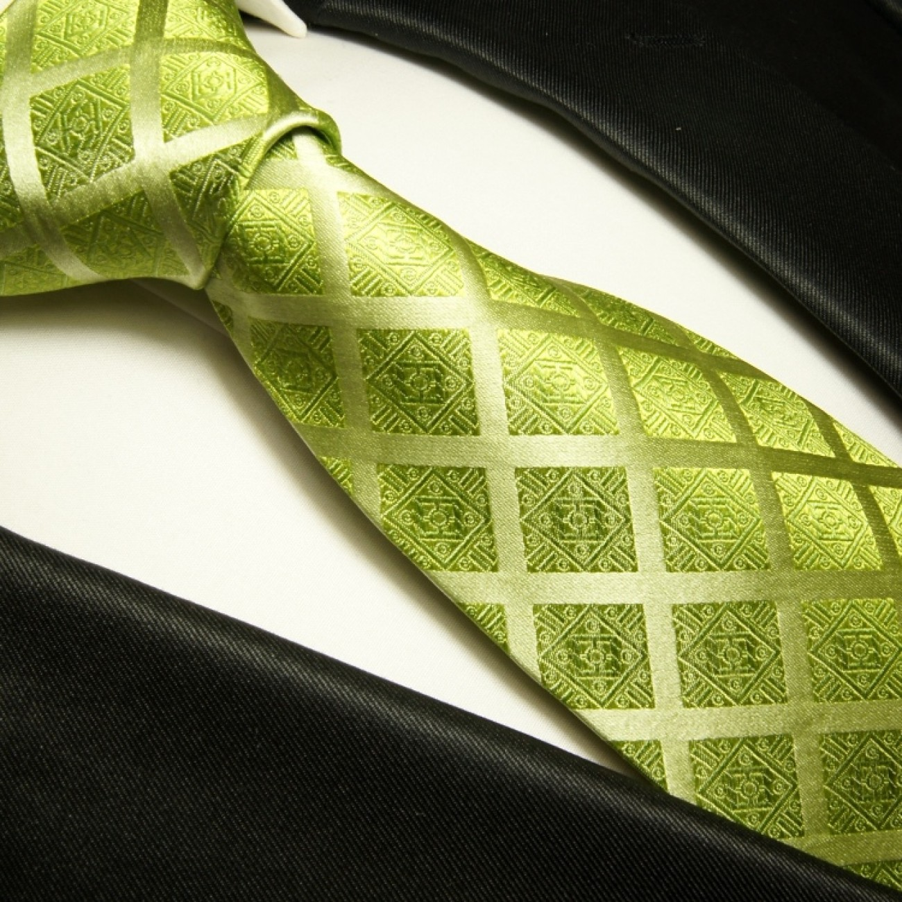 green necktie set 3pcs