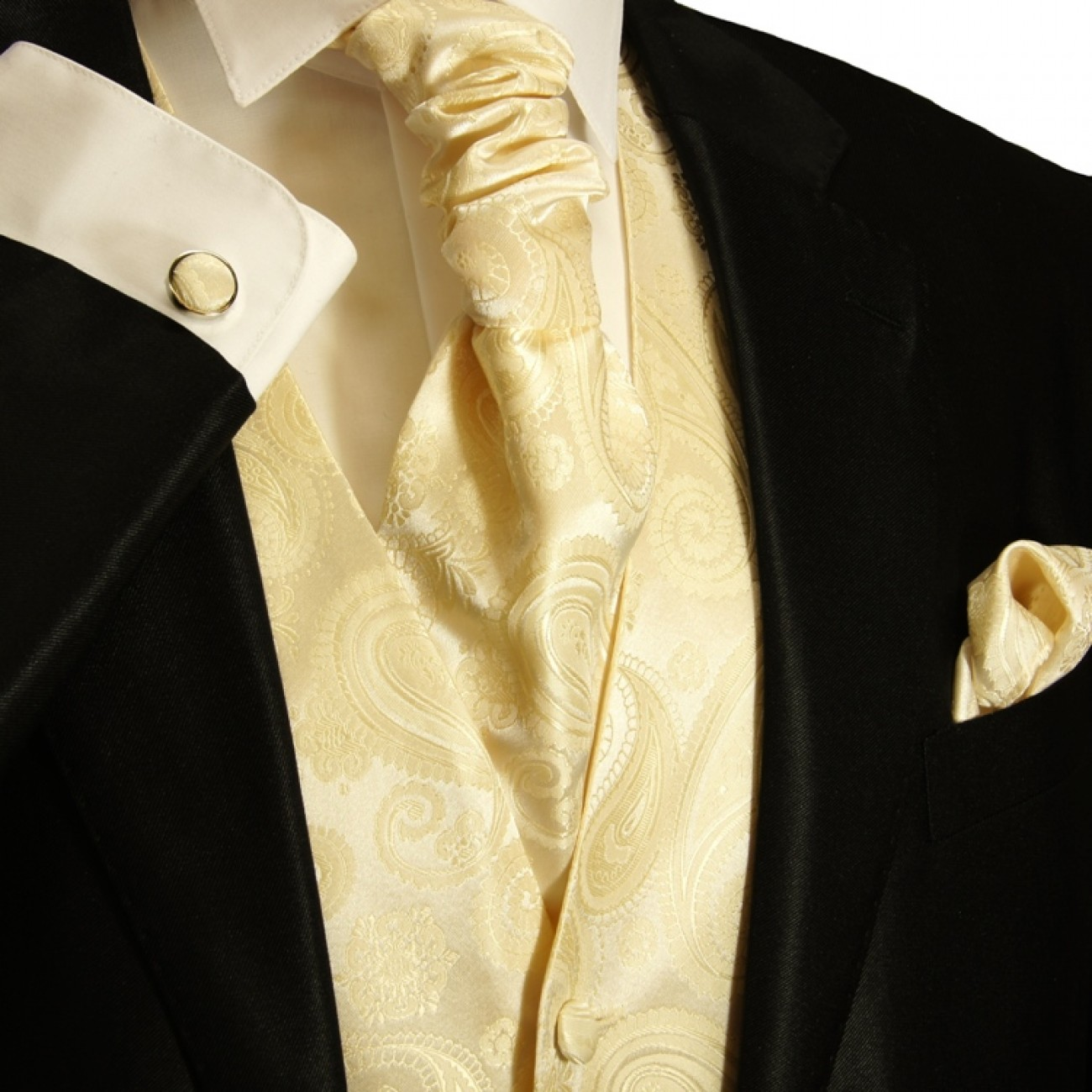 Wedding vest set with Ascot tie