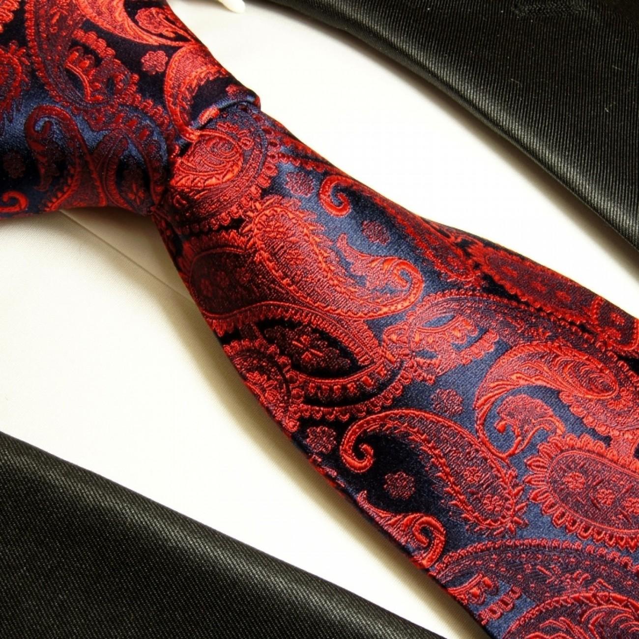 paul malone shop paul malone krawatte 100 seide rot. Black Bedroom Furniture Sets. Home Design Ideas