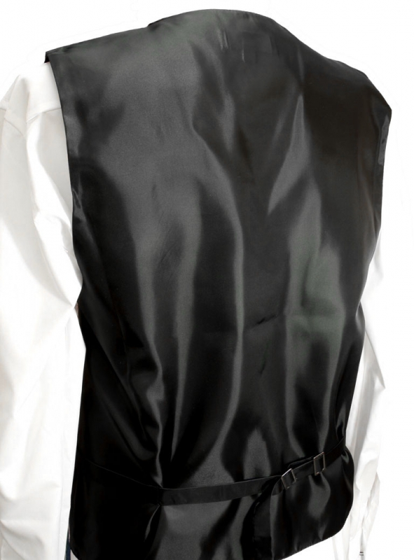 WEDDING VEST SET black and Shirt Slim Fit white V21HL81