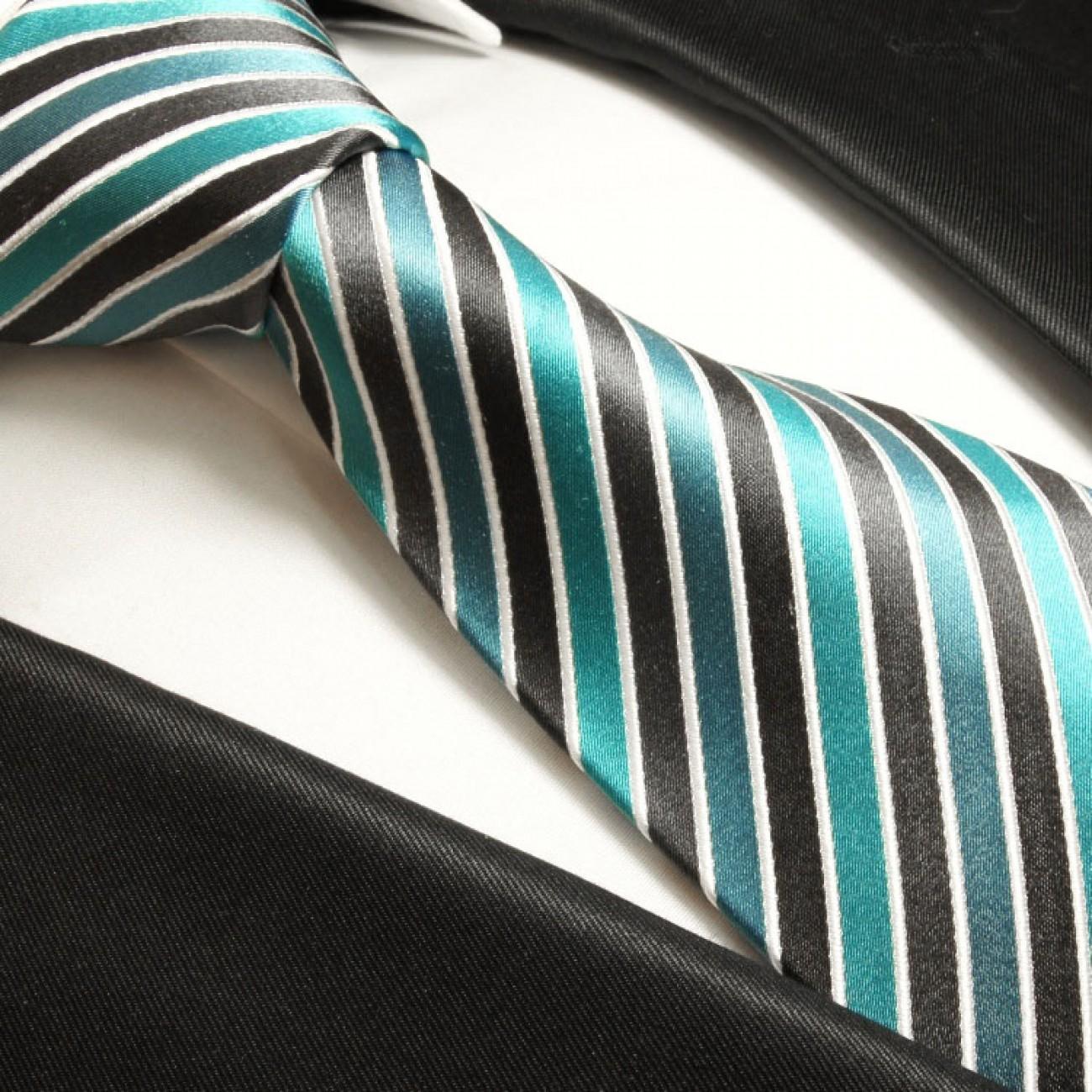 paul malone shop t rkis blau anthrazite krawatte 100. Black Bedroom Furniture Sets. Home Design Ideas