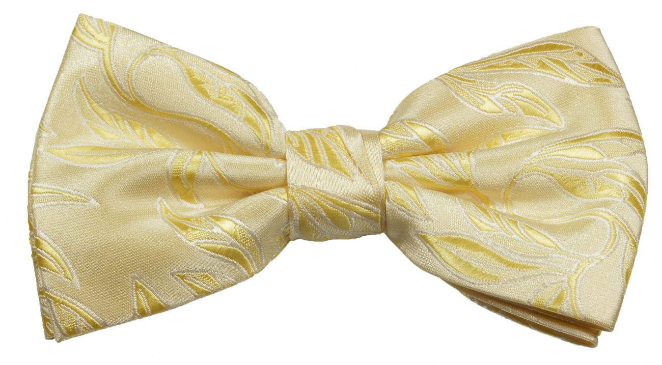 Bow tie gold cream for wedding