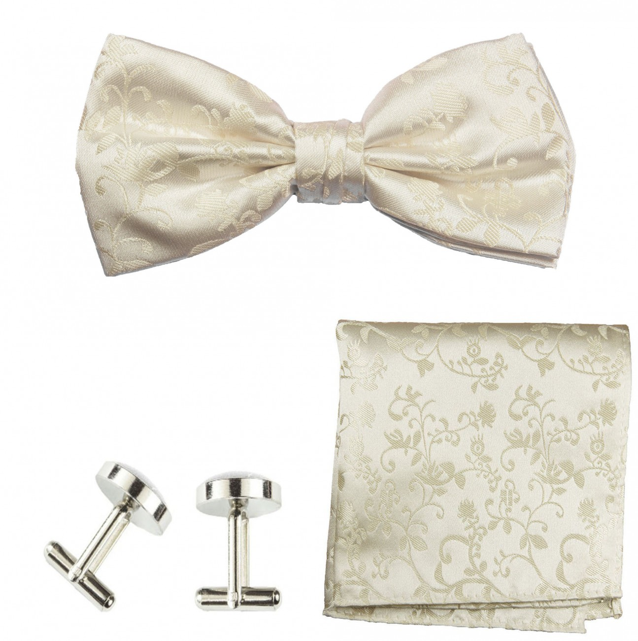 Wedding bow tie champagne