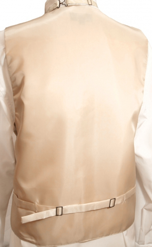 WEDDING VEST SET cappuccino and Wedding Shirt creme V28HL2