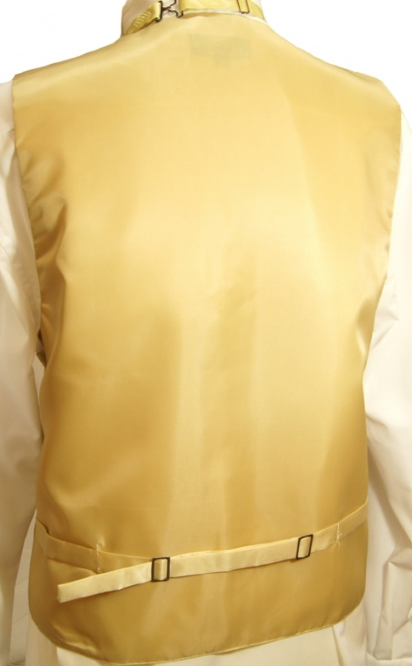 WEDDING VEST SET gold and Wedding Shirt white V16HL8