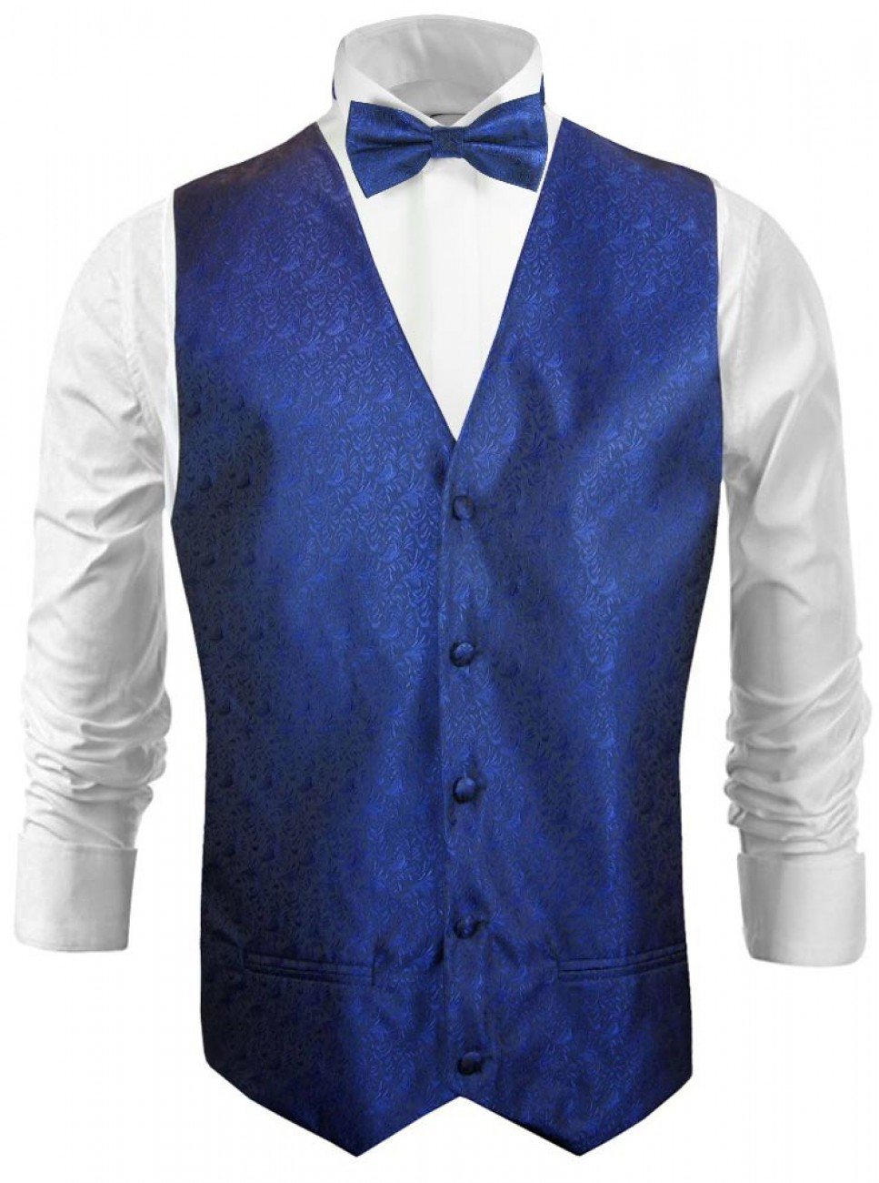 Wedding vest waistcoat royal blue
