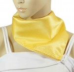 Paul Malone ladies scarf solid yellow 506