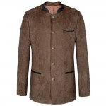 Traditional mens jacket brown leather like Oktoberfest | HT4