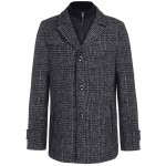 Modern grey black checkered coat for man