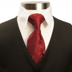 Paul Malone kids necktie maroon red KK95