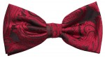 Men´s Bow Tie Pretied red black paisley